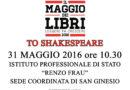 Il Maggio dei Libri 2016 – To Shakespeare a San Ginesio