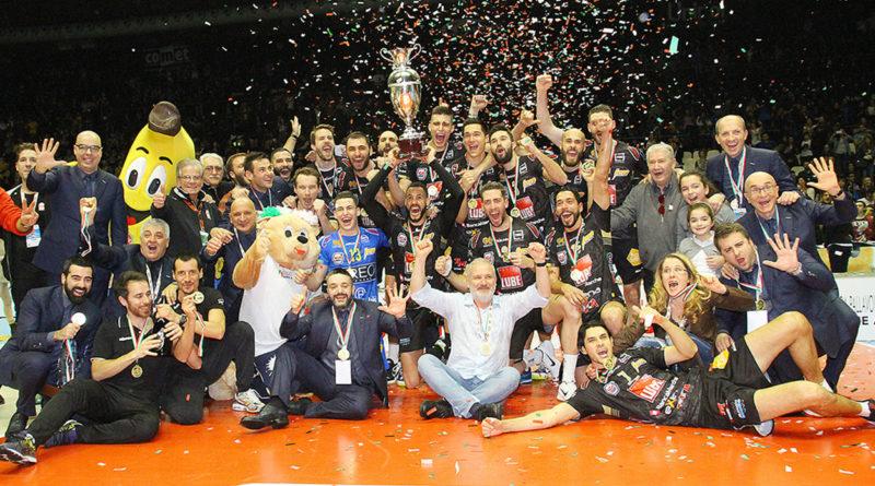 La Coppa Italia è della Lube! A Bologna 3-1 su Trento in una grande finale
