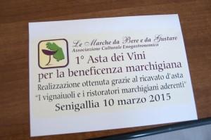 I grandi vini marchigiani all'asta per beneficenza