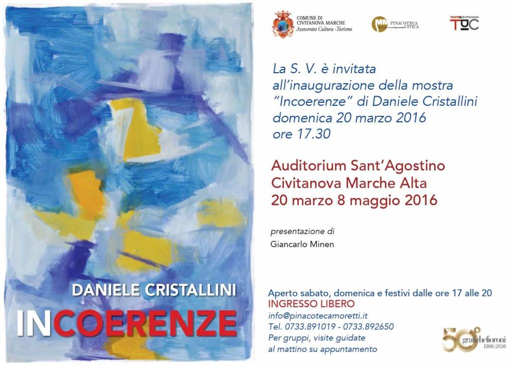 A Civitanova la mostra Incoerenze di Daniele Cristallini