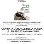 A San Ginesio la Giornata mondiale della poesia