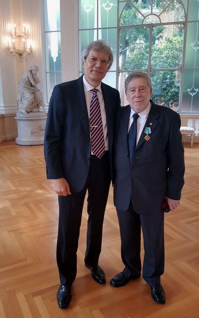 Dalla Russia nuovi riconoscimenti al professor Armando Ginesi