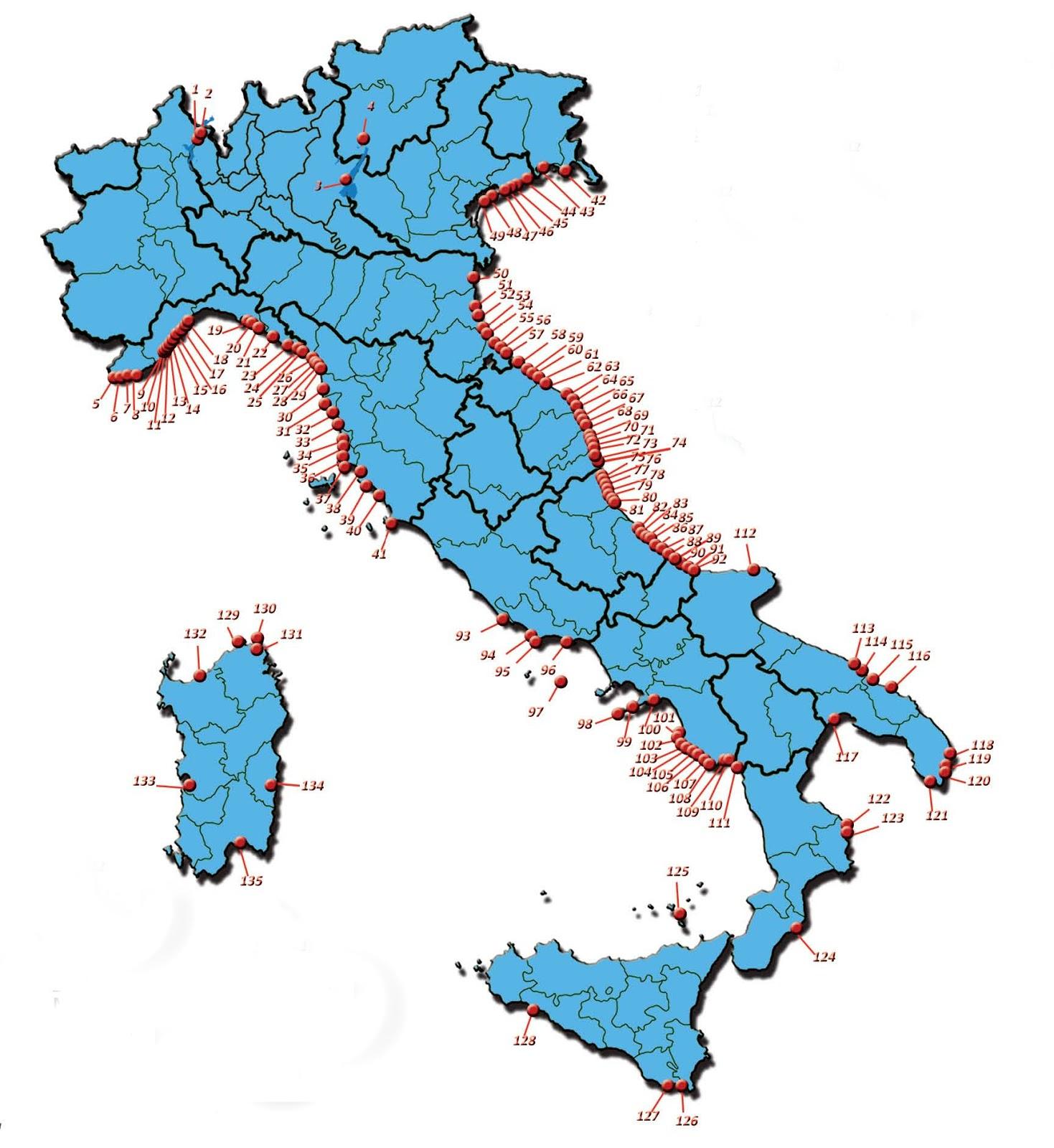 Litorale Marche Cartina.Le Marche Confermano Le 17 Bandiere Blu Altrogiornalemarche