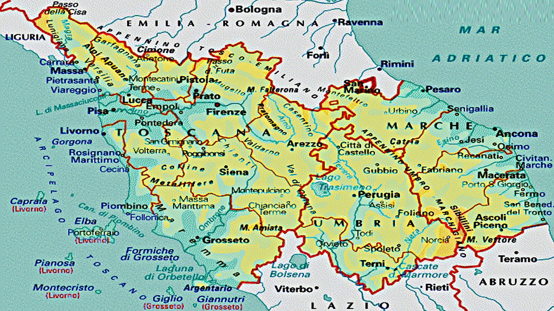 Cartina Marche Umbria.Marche Umbria E Toscana Sempre Piu Vicine Nell Italia Di Mezzo Altrogiornalemarche
