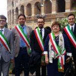 Anche i sindaci delle Marche hanno sfilato a Roma