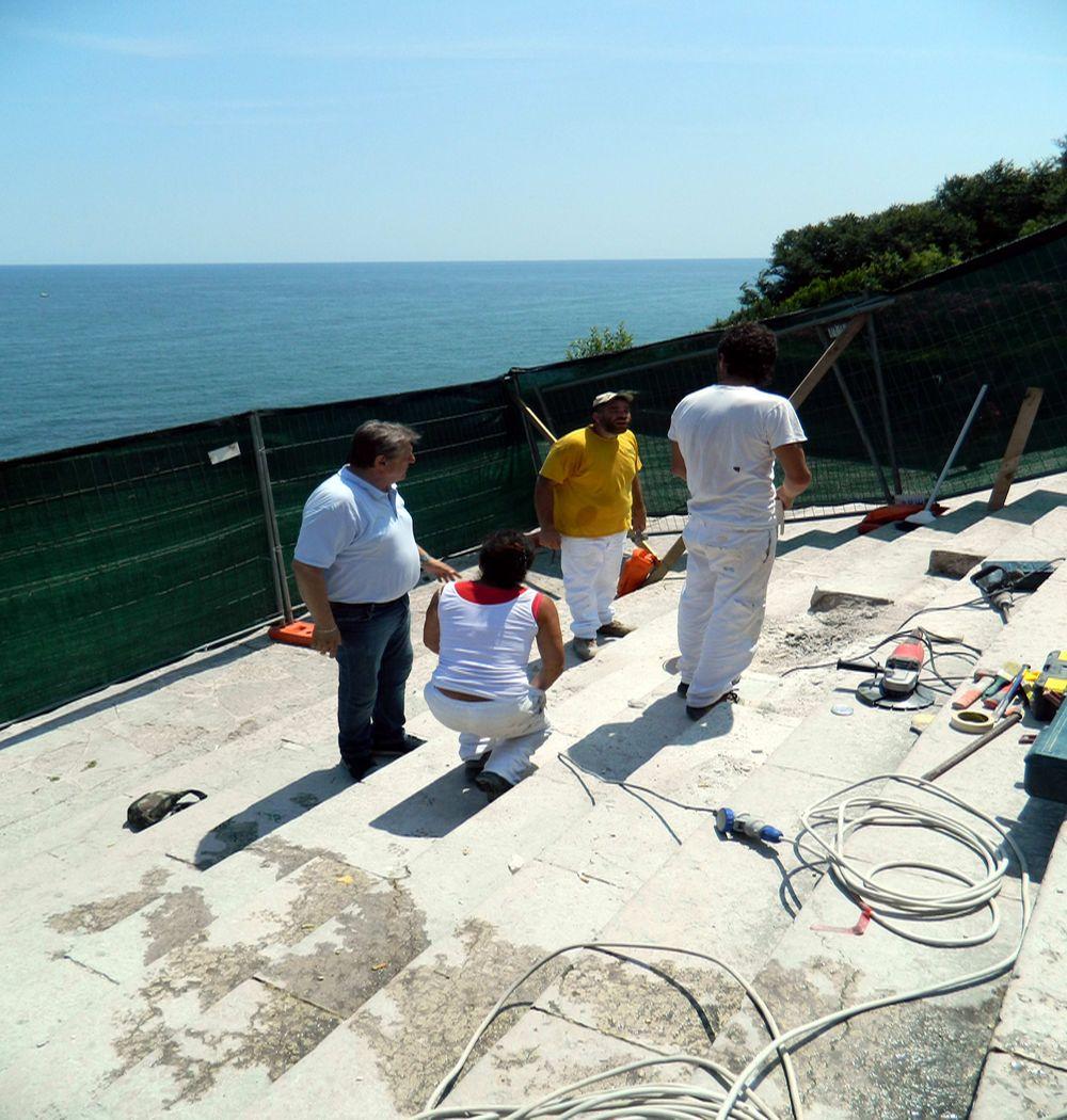 Iniziato ad Ancona l'intervento per il ripristino della scalinata del Passetto