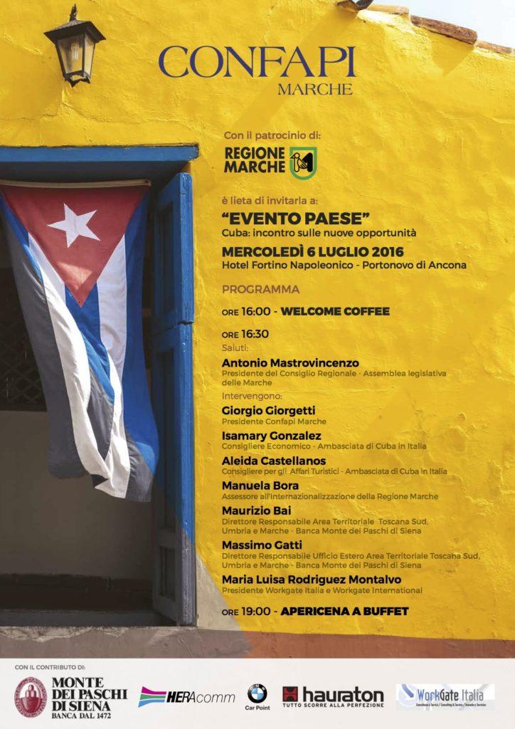 Un ponte della Confapi Marche per Cuba