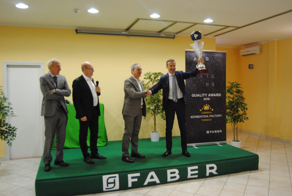 Quality Award, Faber premia per il quinto anno consecutivo lo stabilimento di Sassoferrato