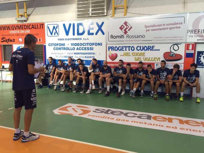 Primo allenamento della Videx Grottazzolina in vista dei grandi impegni