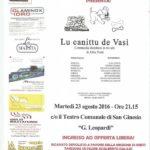 """A San Ginesio la commedia dialettale in tre atti di Alba Piatti """"Lu canittu de Vasì"""""""