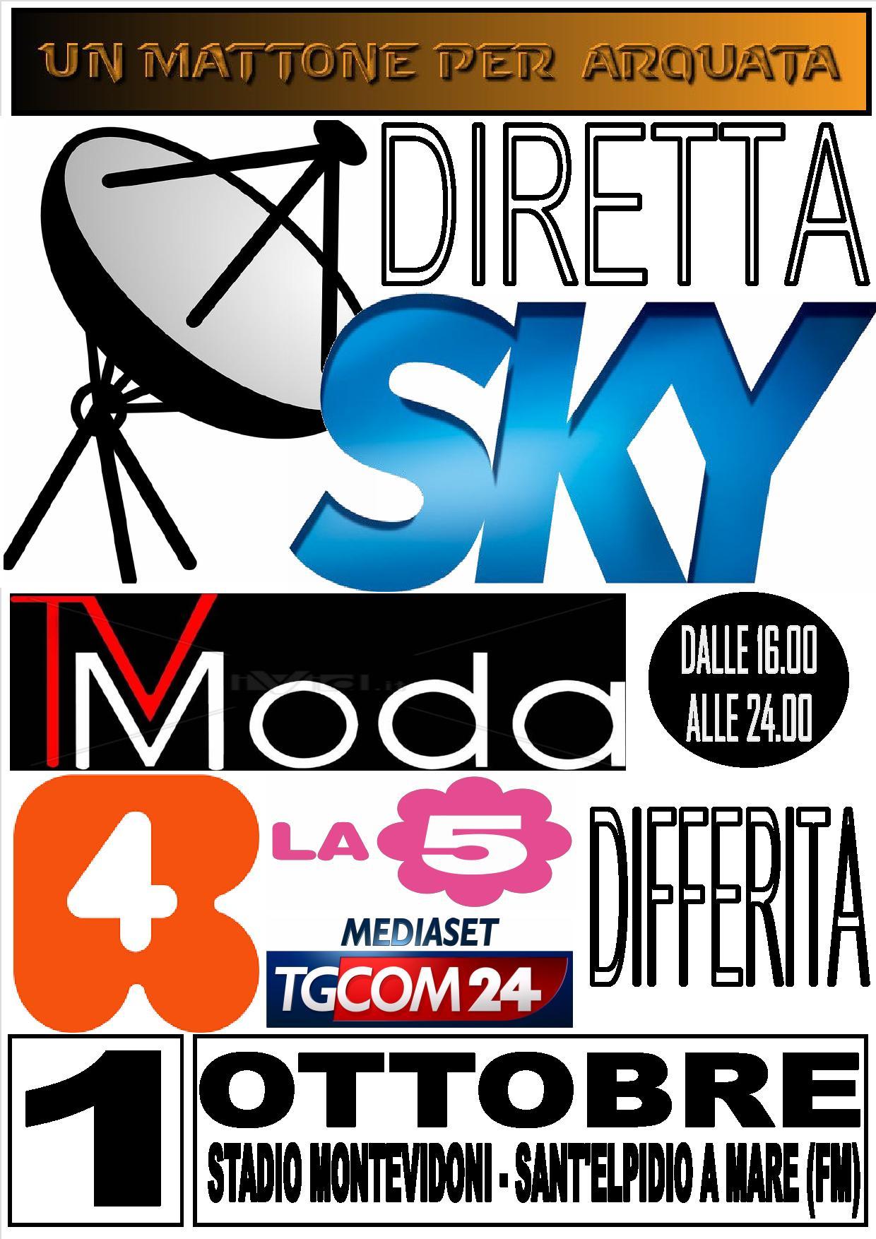 """Diretta televisiva su Sky per """"Un mattone sociale per Arquata"""""""