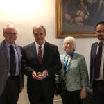 Il rettore dell'Università di Macerata incontra il giudice della Corte internazionale dell'Aia