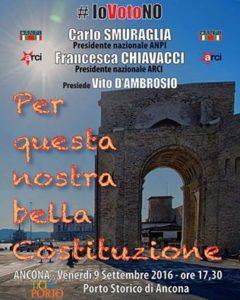 Carlo Smuraglia e Francesca Chiavacci parlano in Ancona della Costituzione italian