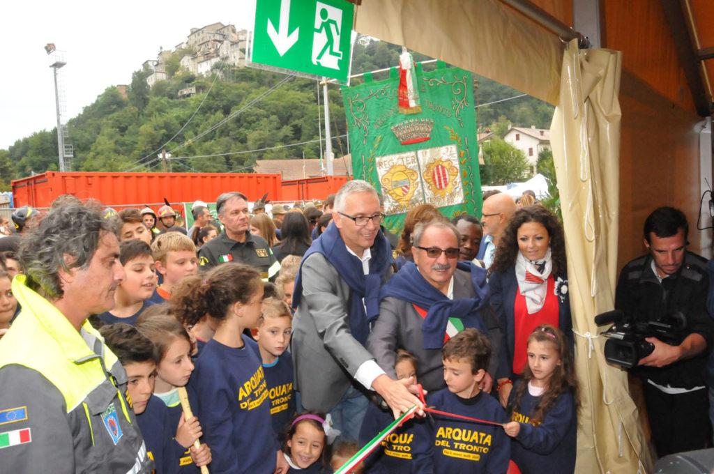 Nella tendopoli di Arquata del Tronto inaugurato il nuovo anno scolastico