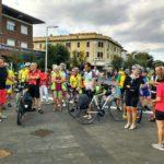 """La """"Bicistaffetta"""" per una maxi pista ciclabile ha fatto tappa a Pesaro"""