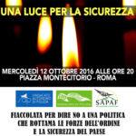 """In Italia sicurezza sempre più precaria, fiaccolata dei poliziotti per """"illuminare"""" i politici"""