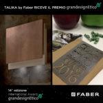 Faber premiata a Milano alla 14^ edizione del GranDesign Etico