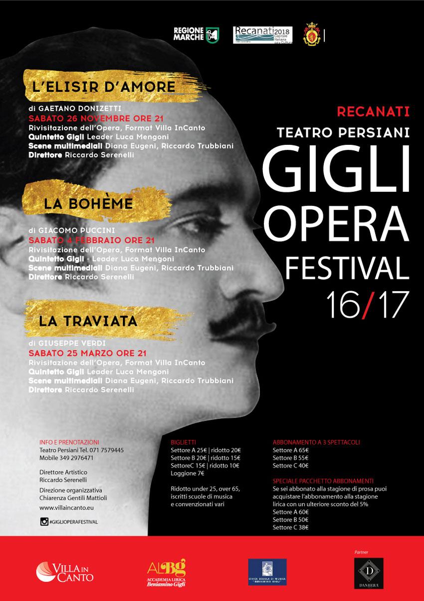 Al via il Gigli Opera Festival al Teatro Persiani di Recanati