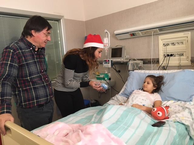 Con Elisa Di Francisca un Natale speciale per i pazienti del reparto di Cardiochirurgia pediatrica di Torrette
