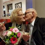 Federico Scarponi, indimenticato campione di pugilato, ha festeggiato i 60 anni di matrimonio