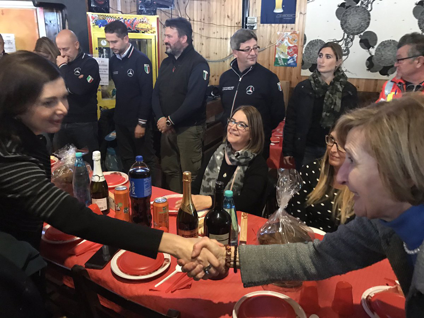 LE MARCHE DA RICOSTRUIRE / A Castelsantangelo sul Nera la presidente della Camera, Laura Boldrini, conferma l'impegno delle Istituzioni