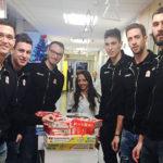 I campioni della Lube all'ospedale Salesi di Ancona con i regali per i piccoli pazienti