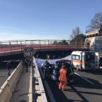 Diciotto persone e quattro società rischiano il processo per il crollo del ponte sull'autostrada A14