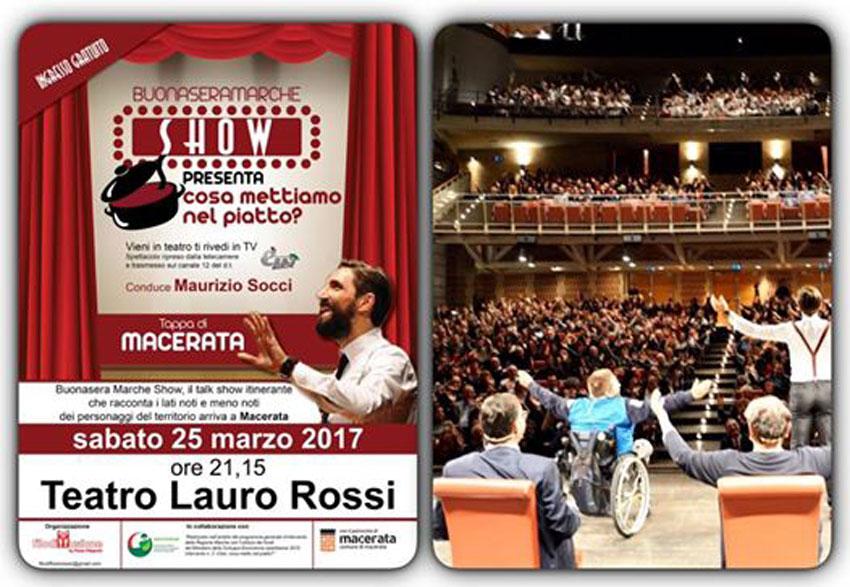 MACERATA / Sabato al Lauro Rossi una serata speciale di Buonasera Marche Show