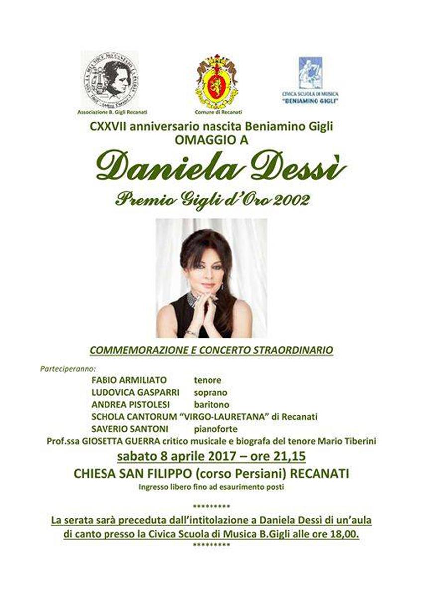 Con un grande concerto commemorativo Recanati ricorda Beniamino Gigli e Daniela Dessì