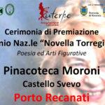 Sabato a Porto Recanati la premiazione del concorso di poesia in ricordo di Novella Torregiani