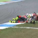 Paurosa caduta, durante le prove del Gran Premio d'Olanda, per il pilota marchigiano Lorenzo Baldassarri