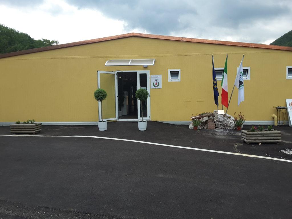 Castelsantangelo sul Nera riparte, nel post terremoto, dalla nuova sede del Comune