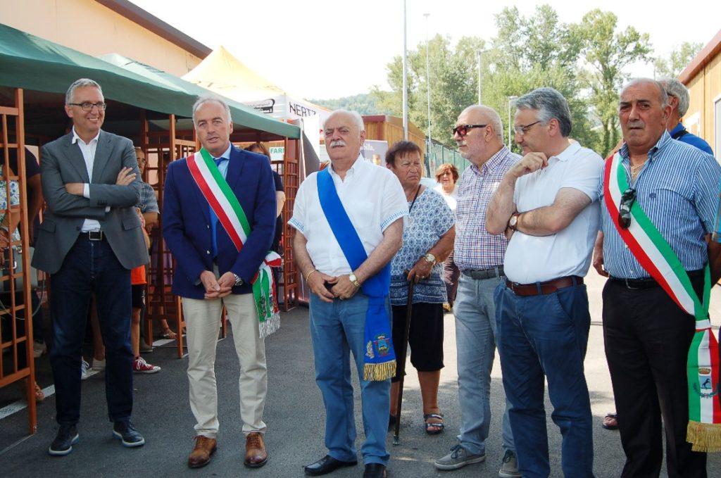 Inaugurata anche a Valfornace un'area commerciale temporanea