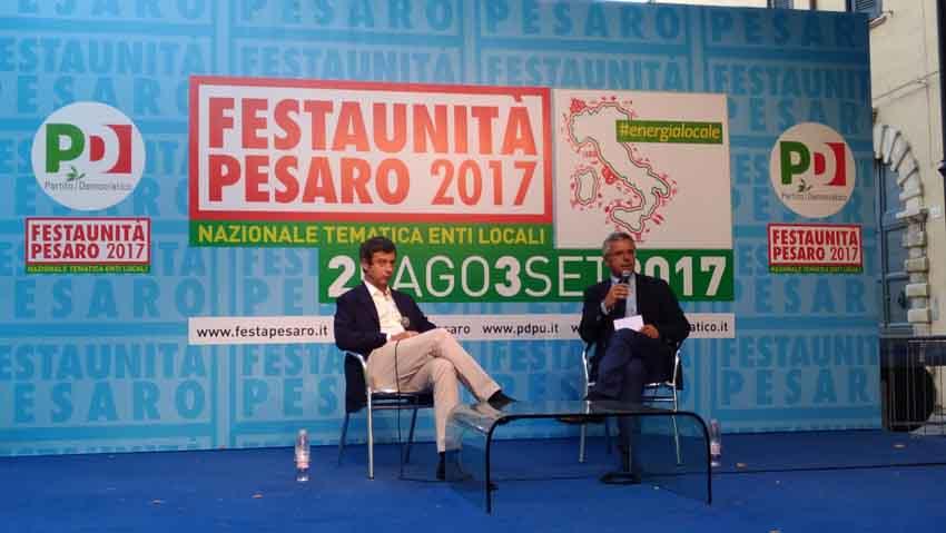"""Il ministro Orlando a Pesaro: """"Se Renzi guida il treno del Pd deve saper ascoltare anche il personale di bordo e i passeggeri"""""""
