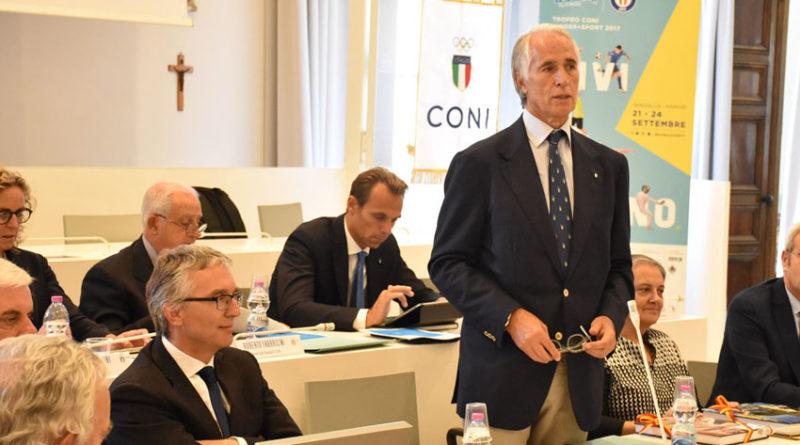 """Storica riunione del Coni ad Ancona, Malagò: """"Volevamo essere qui, lo sport si fa sul territorio"""""""