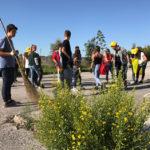Ad Ancona 130 ragazzi dell'Istituto Vanvitelli Stracca Angelini hanno ripulito l'area adiacente la scuola