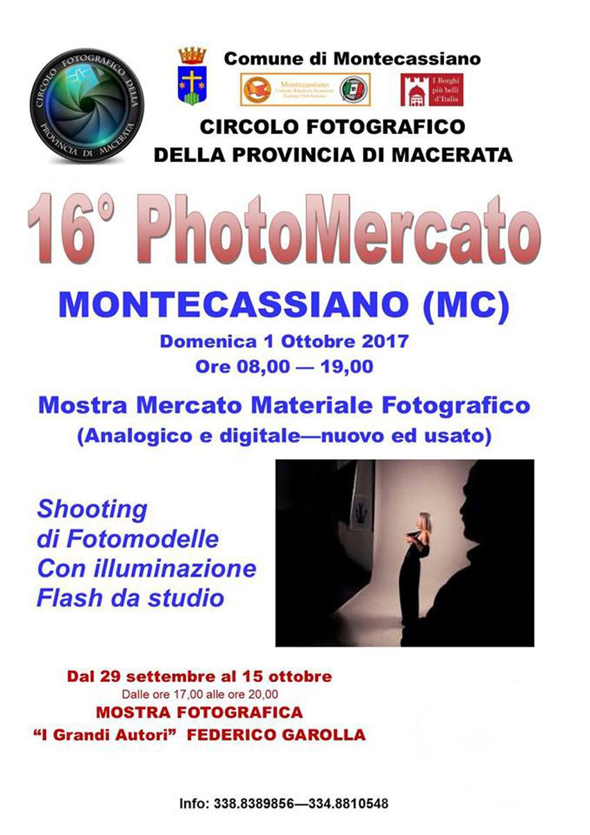 Domenica 1 ottobre Montecassiano ospita il 16° PhotoMercato