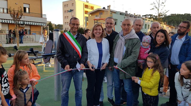 Ricci e Belloni inaugurano a Pesaro una nuova palestra a cielo aperto