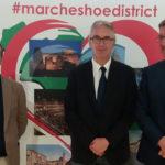 """Gentiloni: """"L'Itala ringrazia l'imprenditoria calzaturiera marchigiana che sta investendo nelle zone terremotate"""""""