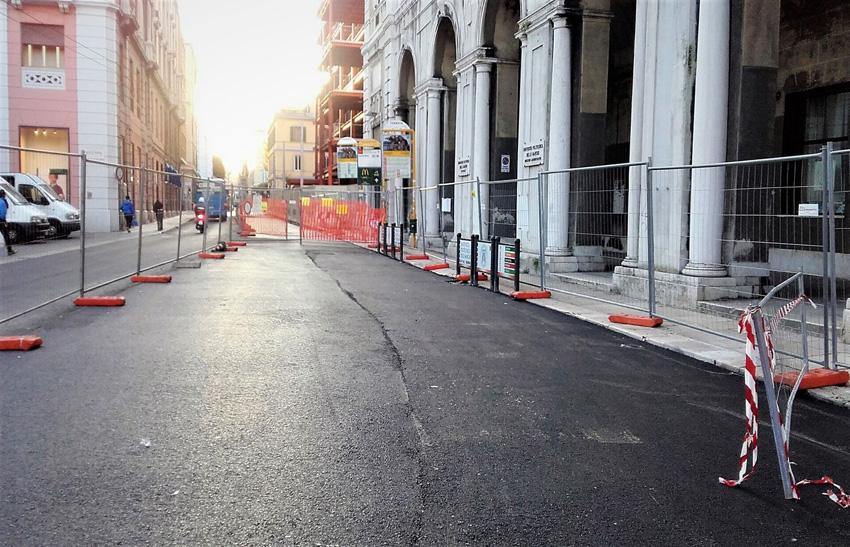 Terminati ad Ancona i lavori di asfaltatura di corso Stamira