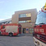 Incendio in una stanza del reparto malattie infettive dell'ospedale di Ancona