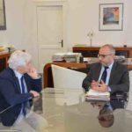 Mastrovincenzo incontra in Regione il nuovo presidente dell'Ordine dei giornalisti delle Marche