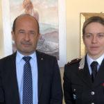 Il Maggiore Patrizia Gentili, comandante della Compagnia Carabinieri, in visita alla Confcommercio di Pesaro