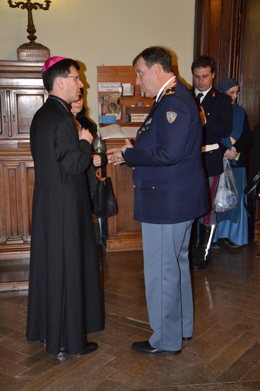 A Loreto gli auguri di Natale di monsignor Dal Cin agli agenti della Polizia Stradale delle Marche