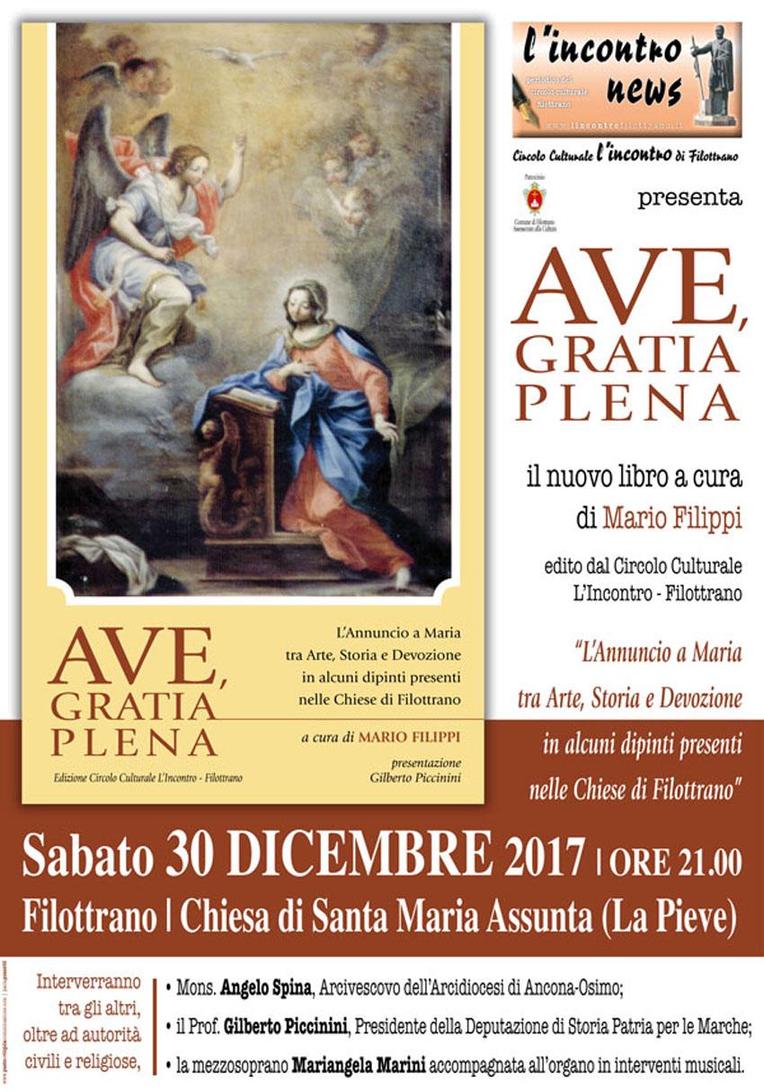 """Dipinti nelle Chiese di Filottrano: sabato la presentazione del nuovo libro di Mario Filippi """"Ave, Gratia Plena"""""""