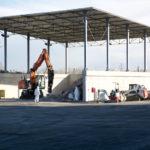 Nella sede del Cosmari di Tolentino inaugurato un nuovo capannone per trattare le macerie del terremoto