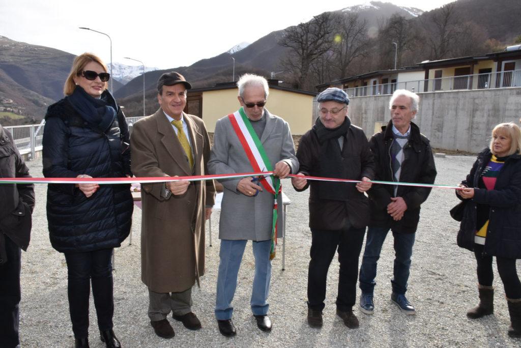 Nuove casette consegnate ai terremotati di Fiastra e Pieve Torina