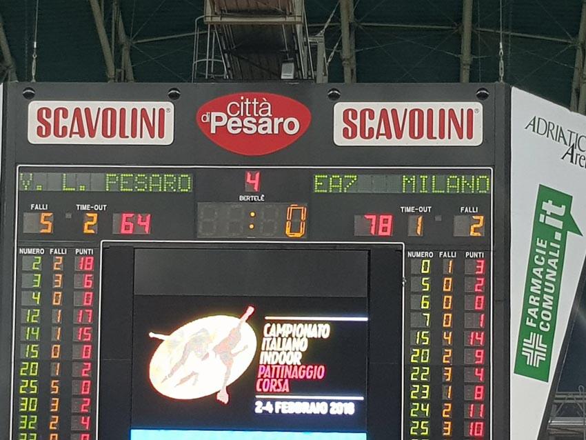 I giovani della Vuelle Pesaro bloccati in casa (78-64) dall'Armani Milano