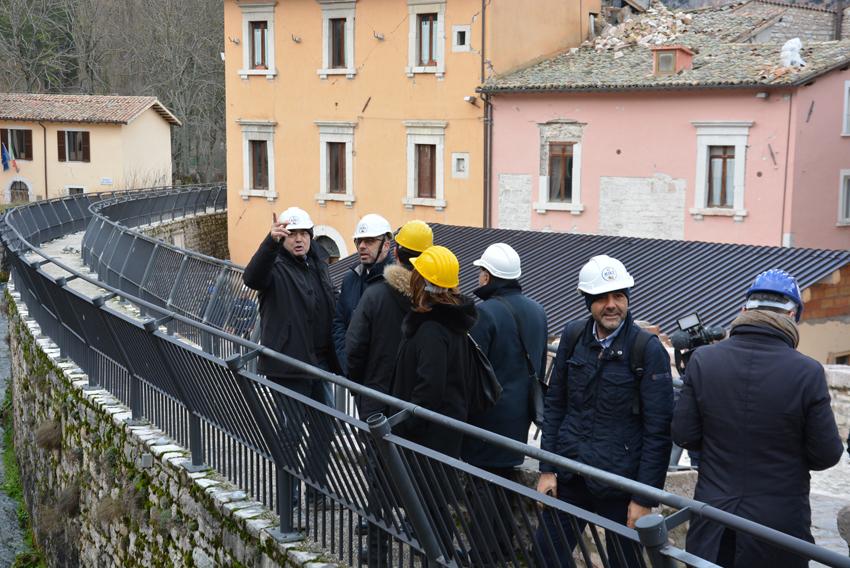 I presidenti di Marche, Umbria e Friuli nelle aree terremotate dell'Alto Nera