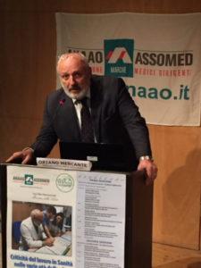 """Mercante (Anaao-Assomed Marche): """"Il sistema della Sanità pubblica ha bisogno di immediati correttivi per garantire i servizi ai cittadini"""""""